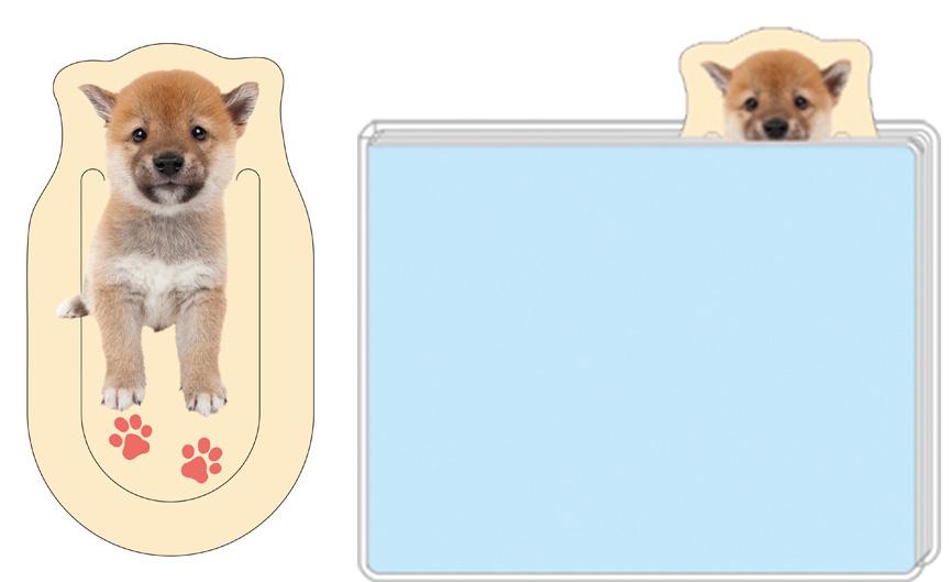 三角耳がかわいい!柴犬型しおり