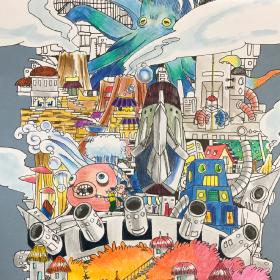 「世界一長い塗り絵」塗り絵コンテスト